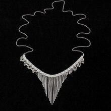 StoneFans Sexy Body Jewelry Rhinestone Belt Tassel Underwear Front Fall Belly Chain