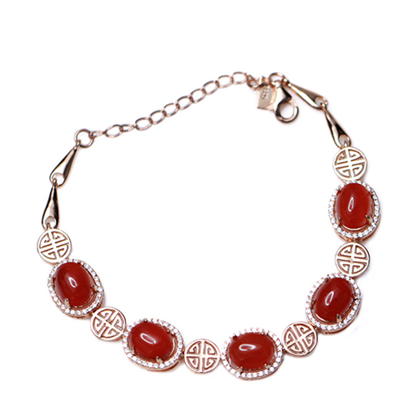 Natural red agate bracelet fashion and romantic style for women's jewelry ,wedding and anniversary