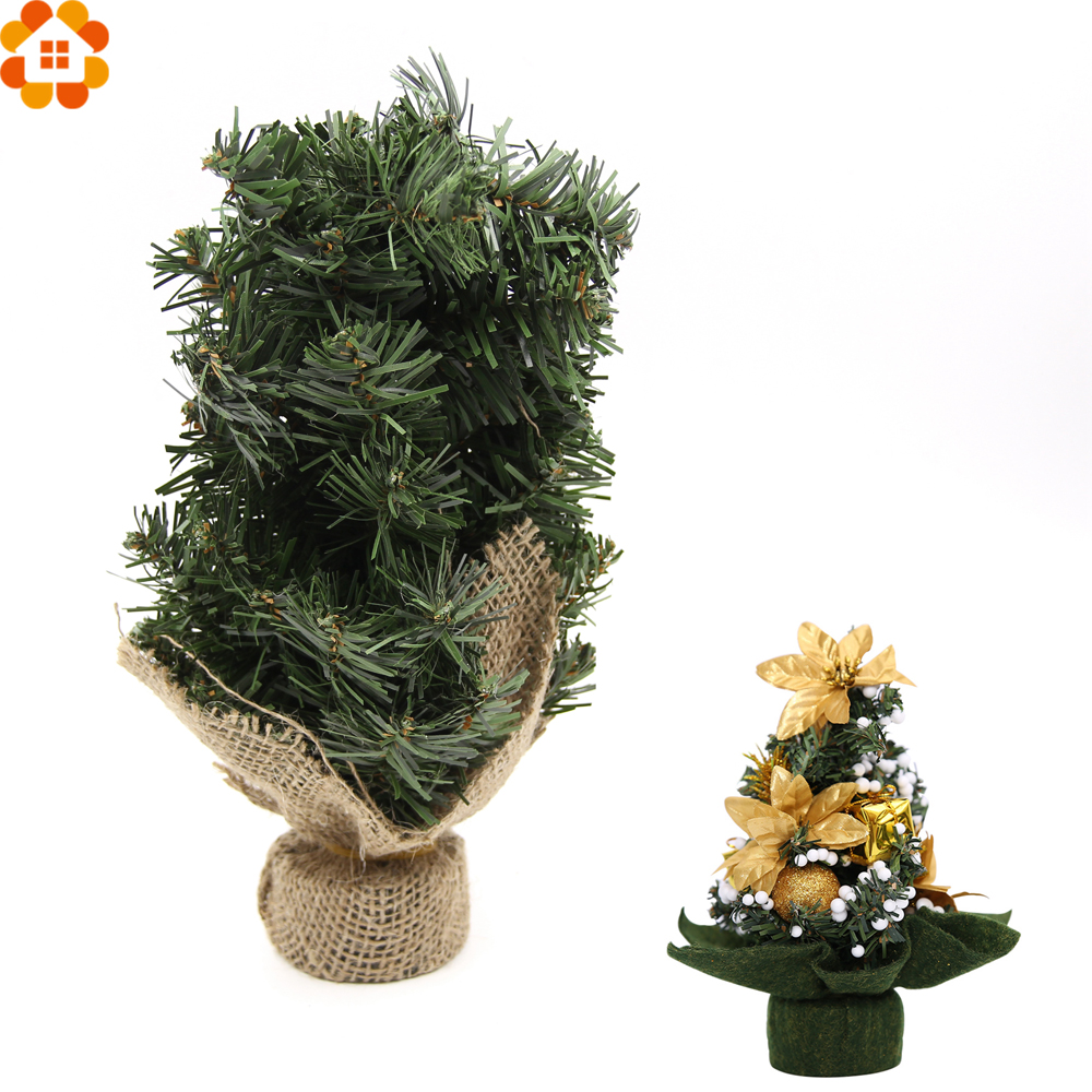 Fibre optic christmas flowers and xmas flowers - New 1pc Mini Christmas Tree Green Artificial Christmas Trees Diy Decorative Xmas Trees Home Christmas