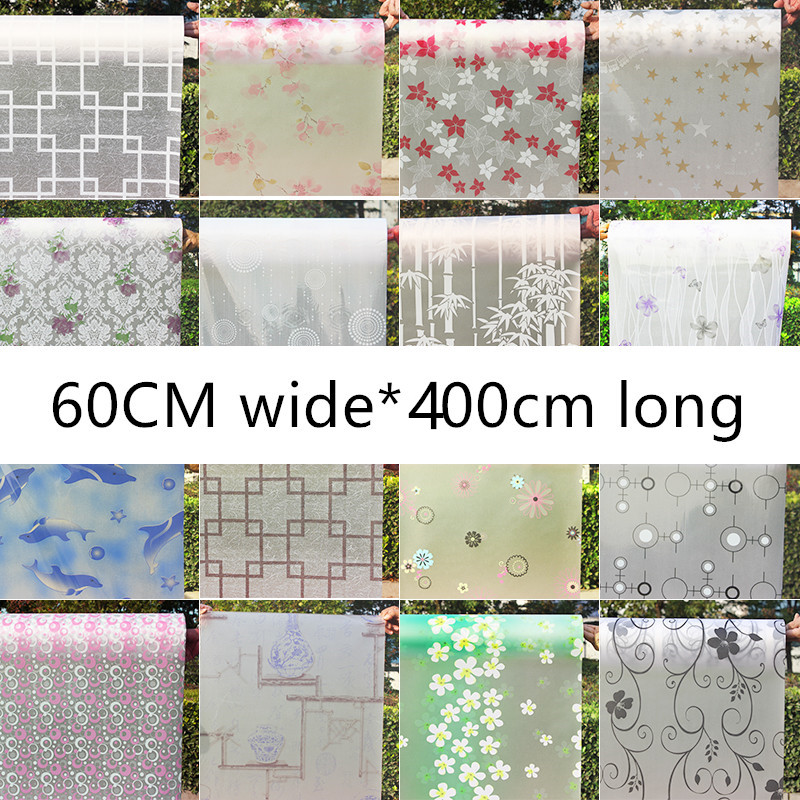 60cmX400cm Transparent opaque glazed paper frosted glass stickers window film bathroom shade windows painted cellophane ...