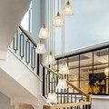 Пользовательские Свет роскошная вилла ресторан лестница длинные подвесные светильники Американский современный пентхаус дуплекс гостина...