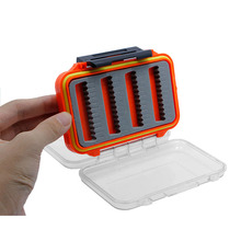 Double Side Waterproof Plastic Foam Fly Fishing Lure Bait Hook Storage Case Box