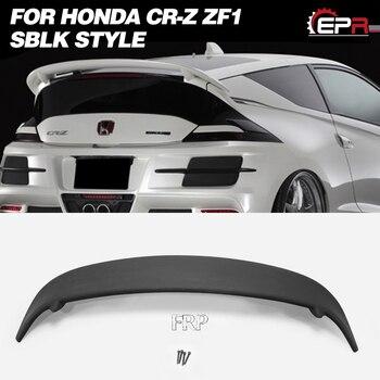 Borde de ala FRP para HONDA CRZ 10,2-12,8 CR-Z ZF1 SBLK estilo de fibra de vidrio trasero Spoiler Body Kit Tuning ajuste para la pieza de carreras CRZ