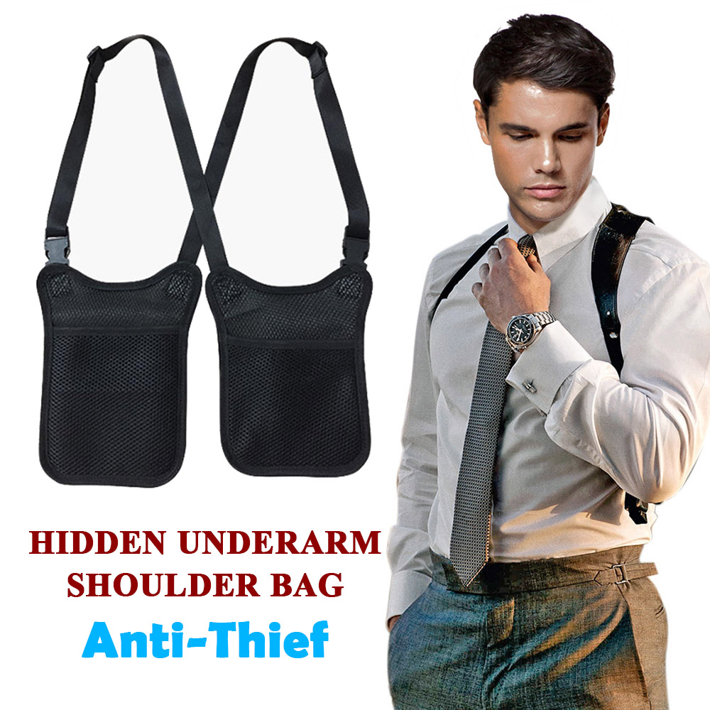 Anti Theft Secret Agent Bag Hidden Underarm Shoulder Bag  Holster Wallet Armpit Case Men Secret Agent Service Costume Bag