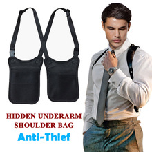 Anti Theft Secret Agent Bag Hidden Underarm Shoulder Bag Holster Wallet Armpit C