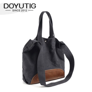 Hot Sell Men & Women's Big Canvas Totes With European Design Large Capacity Canvas Crossbody Bags For Trave & School G081