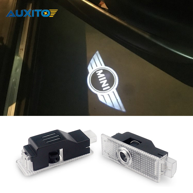 For BMW <font><b>Mini</b></font> Cooper S R56 R50 R53 F56 F55 R60 Countryman R52 JCW One Paceman R55 R57 R58 R59 LED Car Door Logo Projector Light