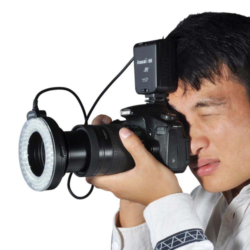 Aputure Amaran Halo АХЛ-HC100 LED Кольцо Вспышка Света Для Canon Камеры DLSR Камеры 5D MARK II III 7D 5D2 650D 550D 700D 60D