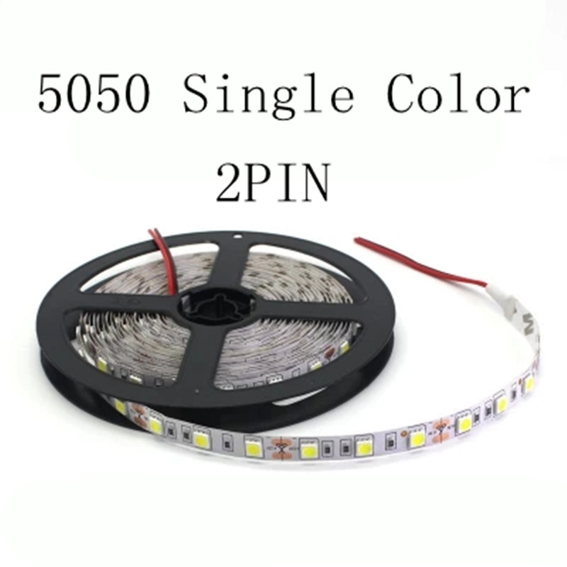 HTB1TWqDBhSYBuNjSsphq6zGvVXaF - 1 Roll 5M Waterproof 12V LED Strip Light 5050 RGB Pink Ice Blue Red Green Diode Tape LED Lamp Home Holiday Decoration 5M/lot
