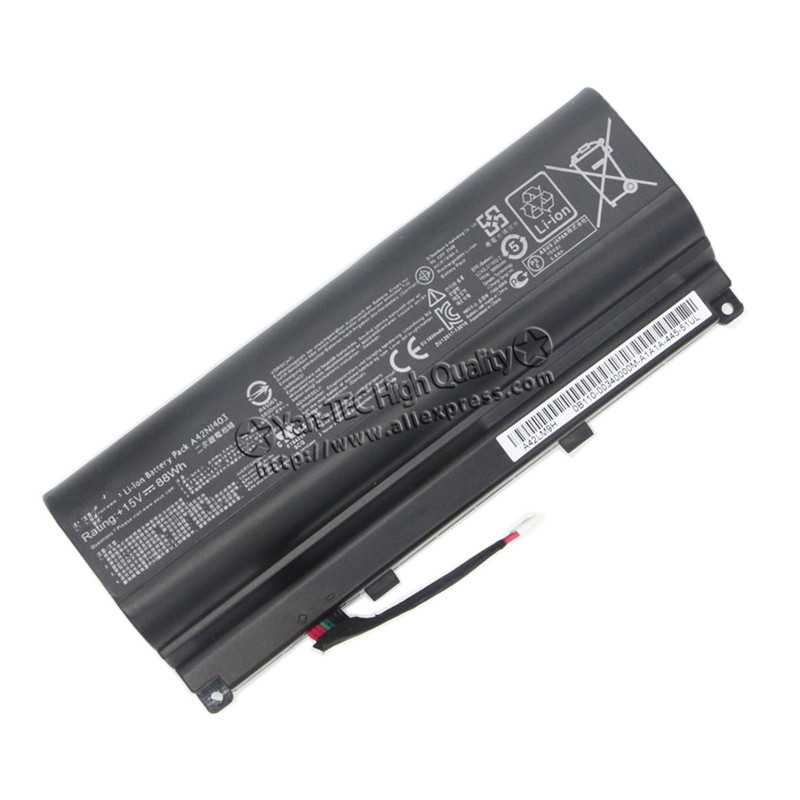 15.0V 88Wh original Battery for ASUS Rog GFX71JY G751JM Laptop A42N1403 A42LM93 4ICR19/66-2 Free shipping 14 4v 3000mah us55 4s3000 s1l5 40046152 4icr19 66 original battery for medion akoya md98736 s6212t md99270 s6615t s621xt s6211t
