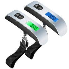 Báscula Digital electrónica portátil para equipaje, balanza de 50kg/110lb para maleta de viaje, balanza colgante