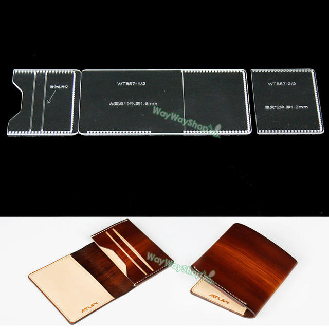 Acrylic Card Case Leather Template DIY Craft MODEL FOR Making - Leather wallet template