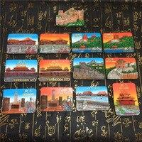 13PCS/SET China Fridge Magnet Great Wall/Tiantan/Palace Museum/Forbidden City Beijing Tourism Souvenirs