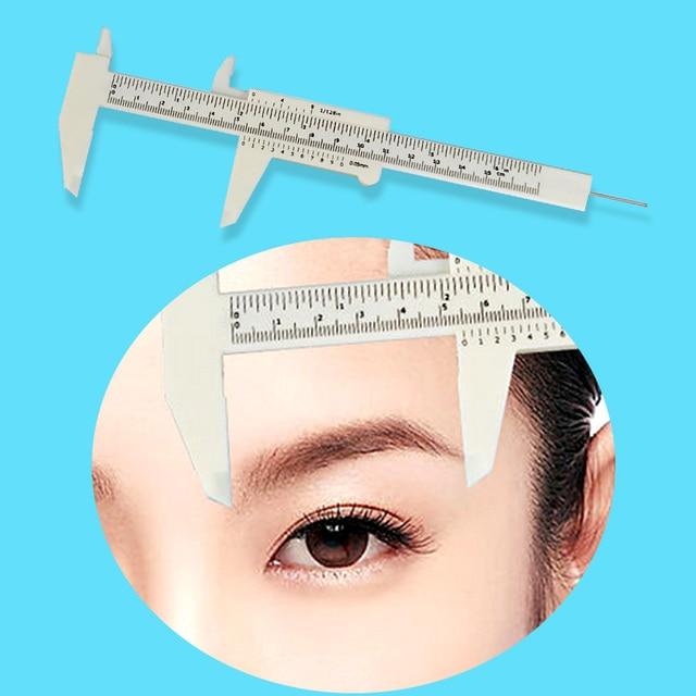 1 Pcs Double Scale Sliding Gauge EyebRow Ruler Permanent Makeup Eyebrow Tattoo Measuring Ruler Caliper Measure Tools New 2