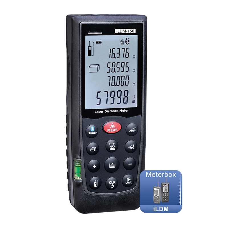 iLDM-150 Laser distance meter Measuring tape with Bluetooth can be connected to mobile phone support IOS, AndroidiLDM-150 Laser distance meter Measuring tape with Bluetooth can be connected to mobile phone support IOS, Android