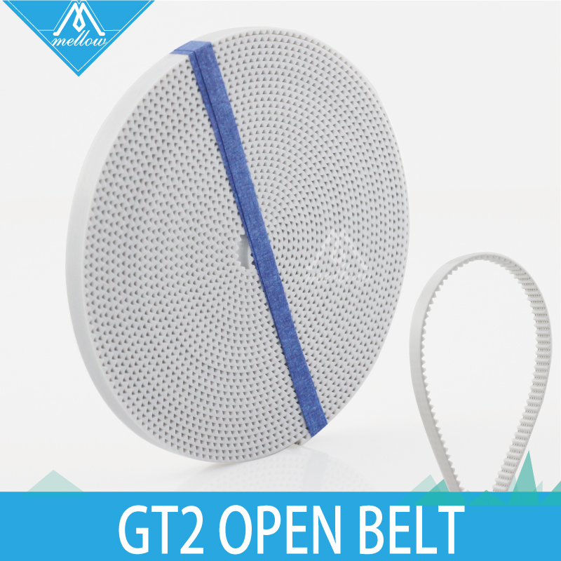 Free Shipping 10M/lot 3D Printer Parts 2GT-6MM PU With Steel Core GT2 6mm Open Timing Belt Width 6mm For RepRap Rostock