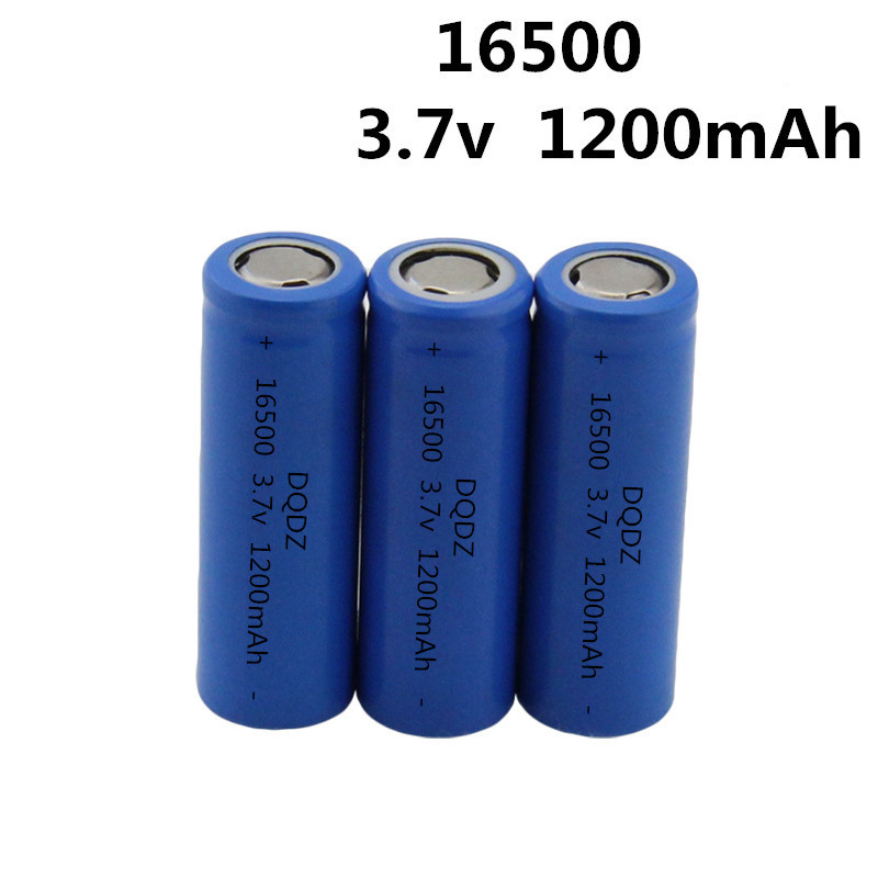 2pcs/lot Free shipping 16500 battery 1200mah 3.7V Li-ion rechargeable battery with flat top аппарат для сварки пластиковых труб yato yt 82250