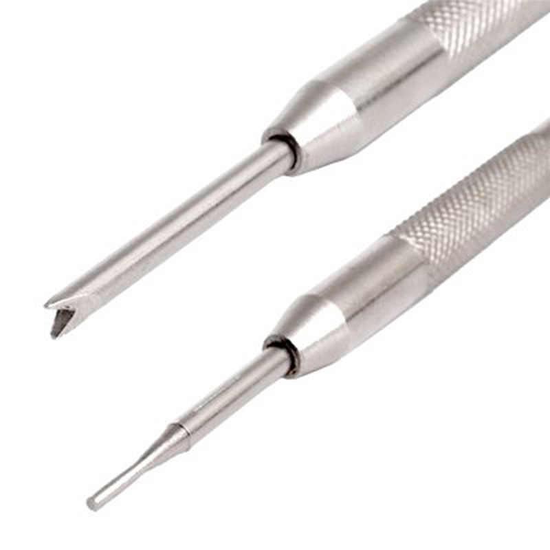 Herramienta de eliminación de pin de barra de resorte de correa de reloj de doble extremo de acero inoxidable herramienta de eliminación de pin de barra de resorte de Metal herramienta de eliminación de pin de alta calidad