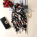 luxurious fashion high-grade elegant wild temperament classic Leopard printing silk womens scarf large Pentium warm shawl female