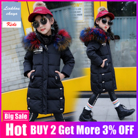 Liakhouskaya 2019 New Children Winter Jacket Girl Coat Russian Parkas For Girls Korean Clothes Thick Down Cotton Teenage 4Y 14Y