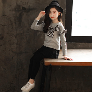 Image 4 - Tenue pour filles, costume papillon, tenue décontractée à manches longues + jupe et pantalon, édition coréenne, nouvelle collection 2018