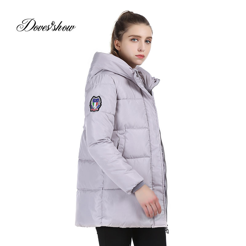 Women's Hooded Cotton-Padded Jacket Warm Winter Medium-Long Cotton Coat Plus Size Female Winter Parkas Slim Women Basic Coats okxgnz winter cotton jacket coat women 2017long cotton padded costume hooded loose warm coats plus size women basic coats ah021