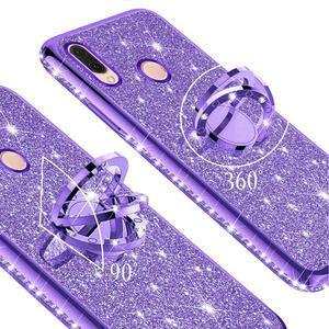 Image 3 - Glitter Diamond Case For XiaoMi Mi A2 lite RedMi Note 7 8 Pro 7s 6 6A 6 PRO 5 Plus Note 5 Pro K20 Magnetic Finger 360 Ring Cover