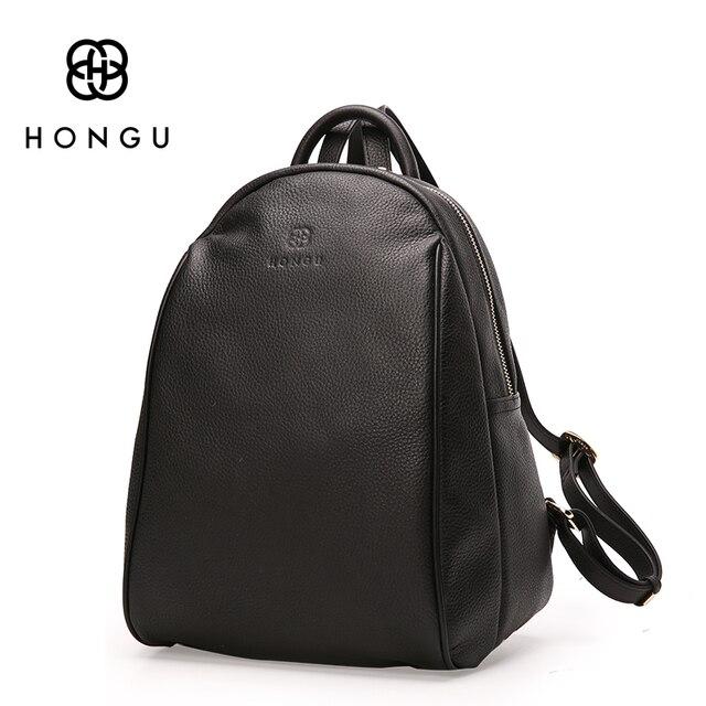 HONGU Fashion Ladies Crossbody Bag Women Backpacks Shoulder Bag Black Big  Top Layer Cow Leather Tote 9995e8a1fe