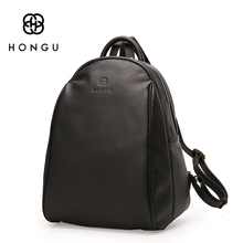 HONGU Fashion Ladies Crossbody Bag Women Backpacks Shoulder Bag Black Big Top Layer Cow Leather Tote Teenagers Girl's Travel Bag