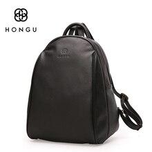 HONGU Fashion Ladies Crossbody Bag Women Backpacks Shoulder Bag Black Big Top Layer Cow Leather Tote Teenagers Girl's Travel Bag