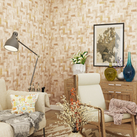 Modern Chinese Wallpaper PVC Solid Color Minimalist Vinyl Plain Imitation Straw Bamboo Wallpaper Hotel Study Restaurant