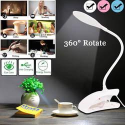 Настольная лампа USB светодиодный настольный светильник 14 светодиодный Настольный светильник с зажимом для учебы, офиса, спальни, кровати
