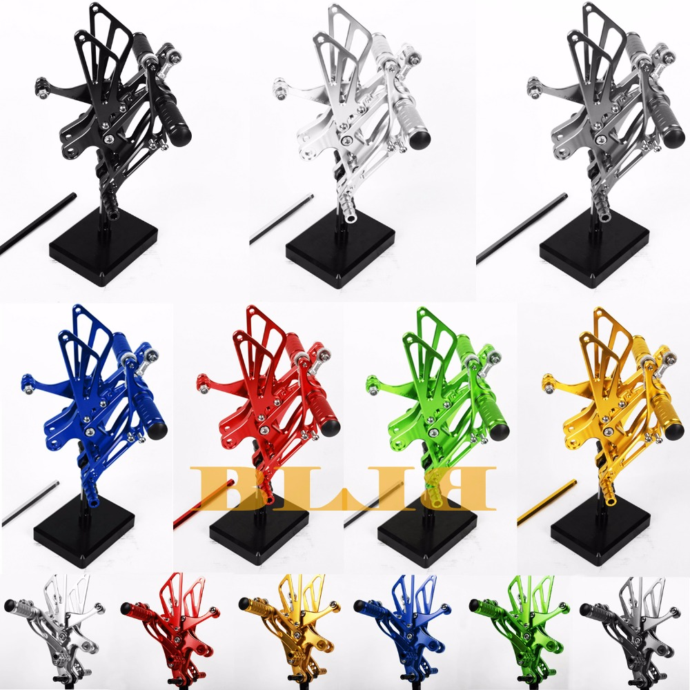 8 Colors For Yamaha YZF R1 1998 2003 CNC Adjustable Rearsets Rear Set Motorcycle Footrest Moto