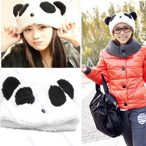 Cartoon Animal Cute Panda Bear Beanie Winter Fitted Warm Soft Hat-Y107