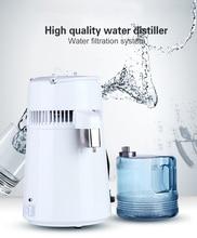 استخدام السكن 4L المياه المقطر ماكينة ماء مقطر التقطير تنقية مياه الفولاذ غير القابل للصدأ فلتر التعليمات الروسية