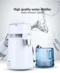 Uso de la carcasa destilador de agua 4L máquina de destilación purificador de agua de acero inoxidable filtro de agua instrucciones rusas