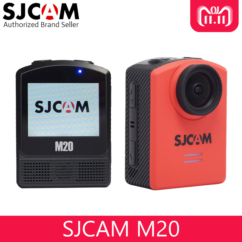 цена на SJCAM M20 4K 24fps Gyro Action Camera Wifi Waterproof 30M Remote Control Mini Sport DV Camcorder with Extra Accessories Option