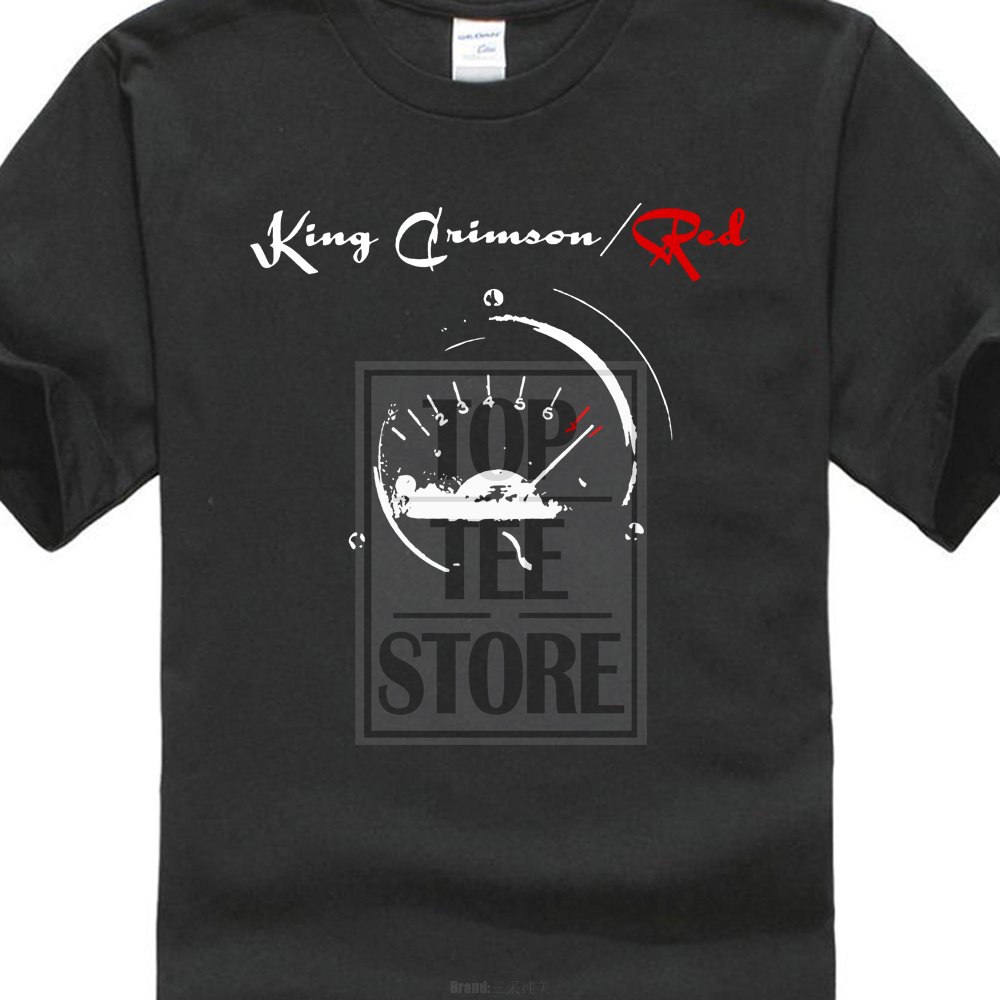 King Crimson Men'S Red Speedometer   T     Shirt   Black