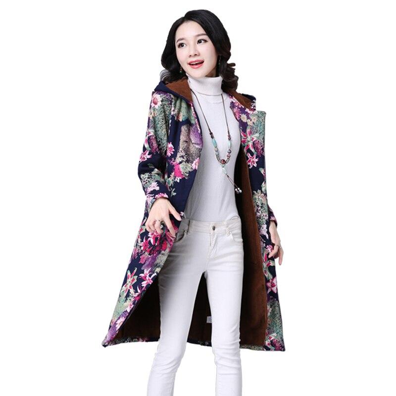 Boutique navy La À Lâche 2018 Femmes Col Coton Vêtements Impression Red Femelle Taille Nouvelles De Capuchon Automne Plus Mode Hiver Yzh350 Blue Manteau f8wf1aqv