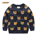 Girls Boys Bear Knitted Long Sleeve Sweaters Children Pullover Cotton Sweater High Quality Brand Kids Clothes 2017 Autumn Winter