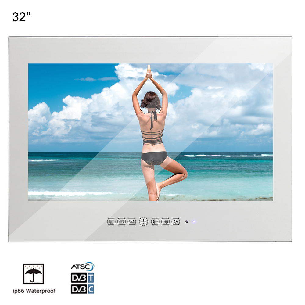 "Souria 32"" Magic Mirror SPA Bathroom Waterproof LED TV Bathtub Salon with IP68 TV Remote(China)"