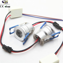 Мини Диммируемый Встраиваемый светодиодный светильник 3W Диммируемый Светодиодный точечный светильник светодиодный потолочный светильник AC110V 220V DC12V