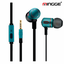 5pcs/lot wholesale MG 8100 Special Edition 3.5mm In-Ear Metal Bass Earphones Sports Music Wired Earbud Headset With Microphone