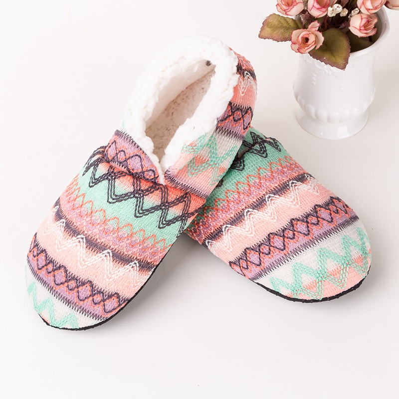 Winter Warm Socks Slippers Women Home Floor Shoes Soft Sole Anti- Slip Indoor Thicken Slipper Socks Ladies  Socks