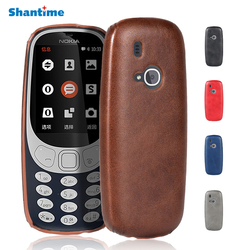 Luxury Vintage Pu Leather Back Cover For Nokia 3310 2017 Case Cover For Nokia 3310 2.4