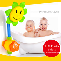 Baby Bath Toys Children Sunflower Spray Water Shower Faucet Kids Bath Toy With Suction Cups Bathroom Toys Swimming Pool Bathtub