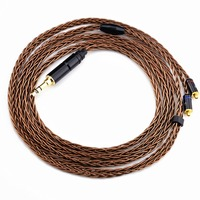 New Arrival LZ 3 5mm Balanced Cable 8 Core 6N Upgreded Single Crystal Copper Earphone Cable