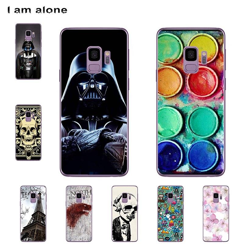 I am alone Phone Cover For Samsung Galaxy S9 G960 5.8 inch Solf TPU Cellphone Fashion Cute Case For Samsung Galaxy S9 G960