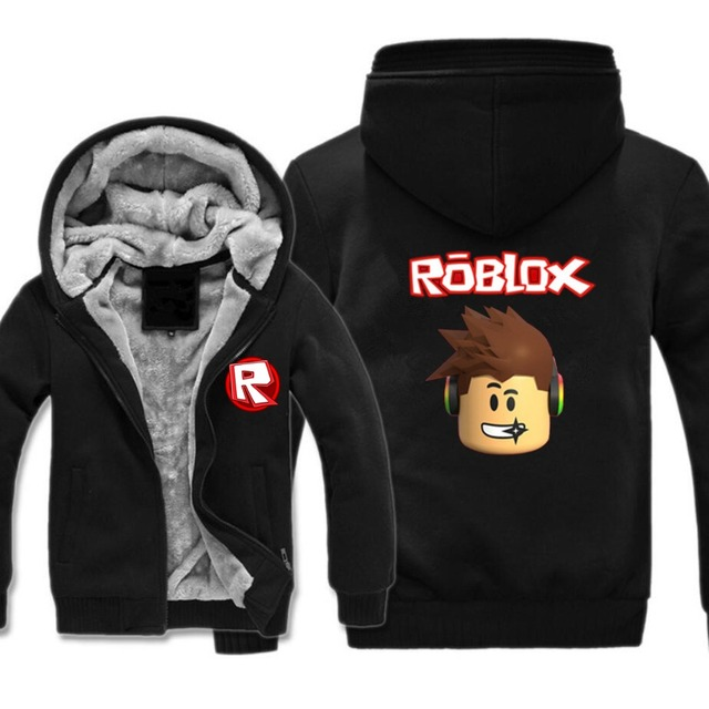93c72eb8dab Hot Game Roblox Hoodie Men women Cotton Jacket winter warm thickened zipper  hooded teenagers student Jacket cosplay coat