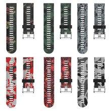 Universal Watch Band Strap Printing Silicone For Garmin Fenix 3 HR 5x gai